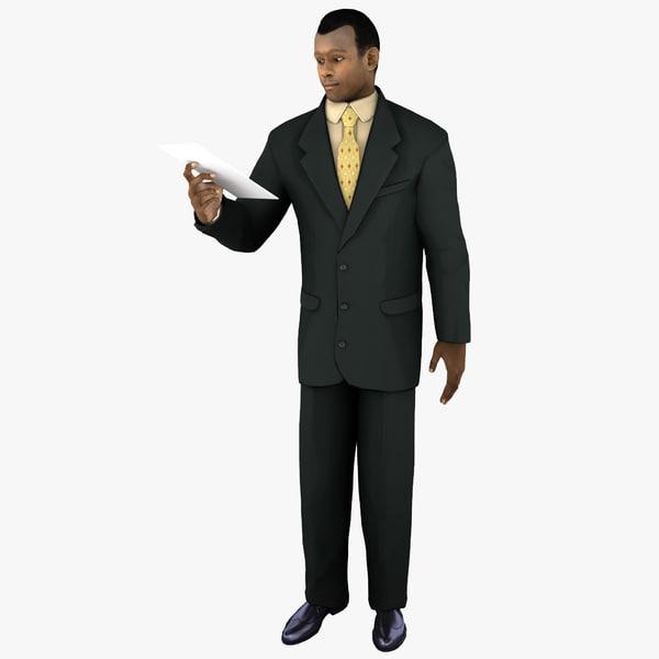 businessman 4 pose 3 3d 3ds