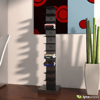 3d tower metal bookcase