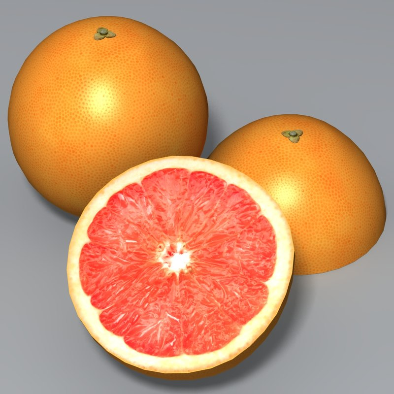 grapefruit fruit 3d model