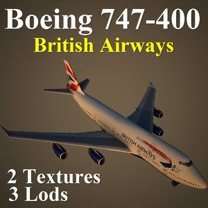 boeing 747-400 baw 3d max