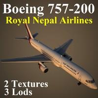 boeing 757-200 rna 3d model