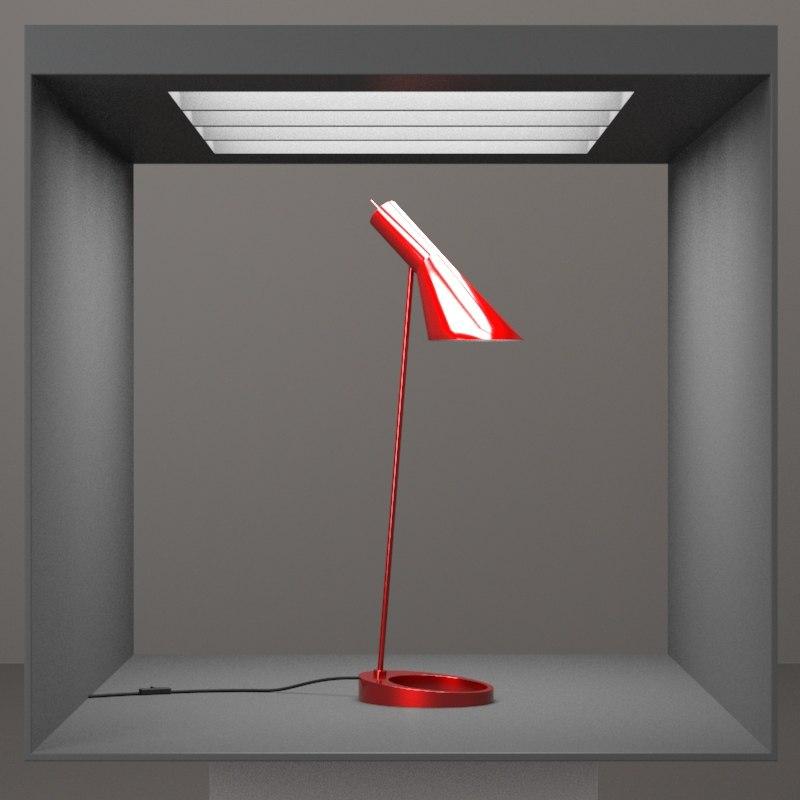3d max hd lamp table