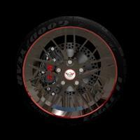 free rim zr-1 wheel 3d model