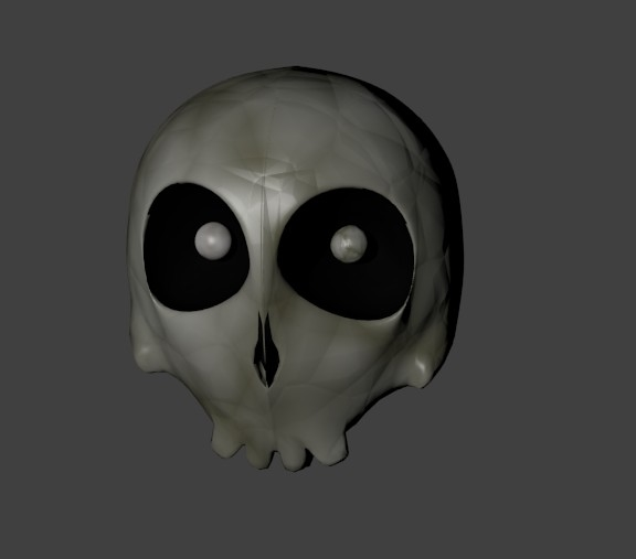 free cartoon skull 3d model