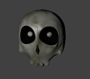 free cartoon skull 3d model