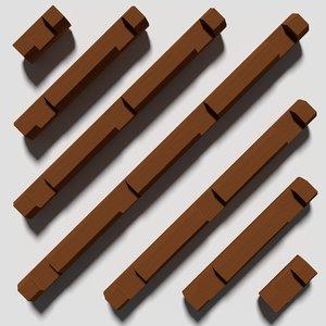 3d log toy model