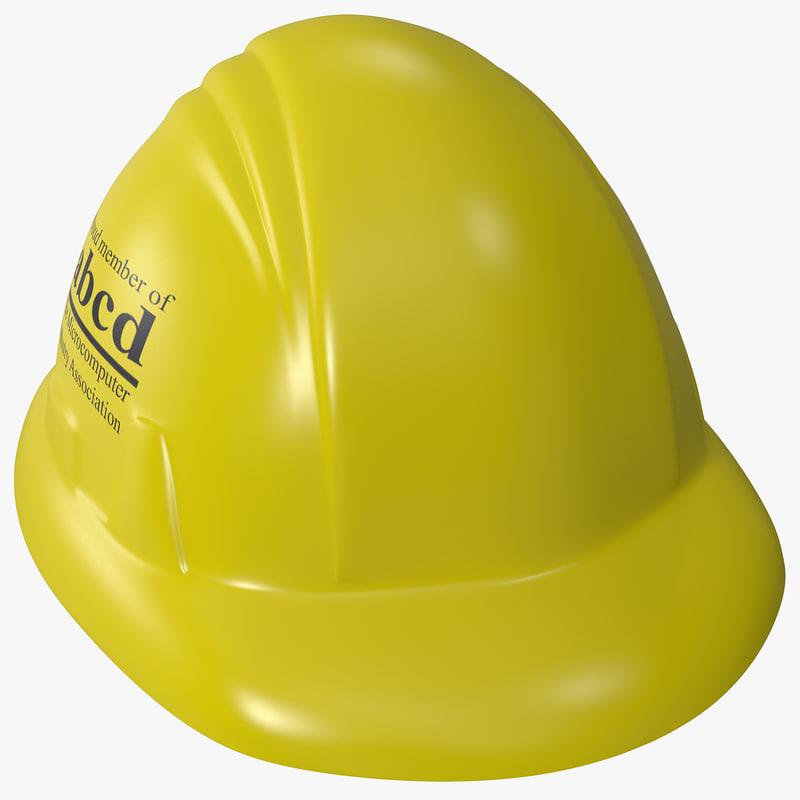 3d model toy hard hat
