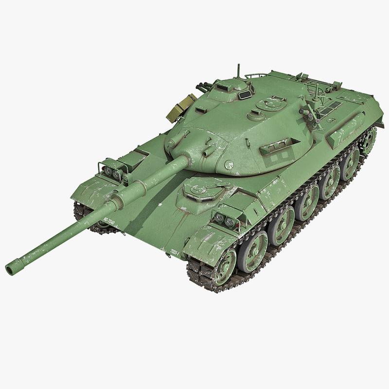 japanese type 74 tank 3d model