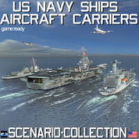 navy ships aircraft carriers 3d max
