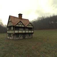 3d model house veranda
