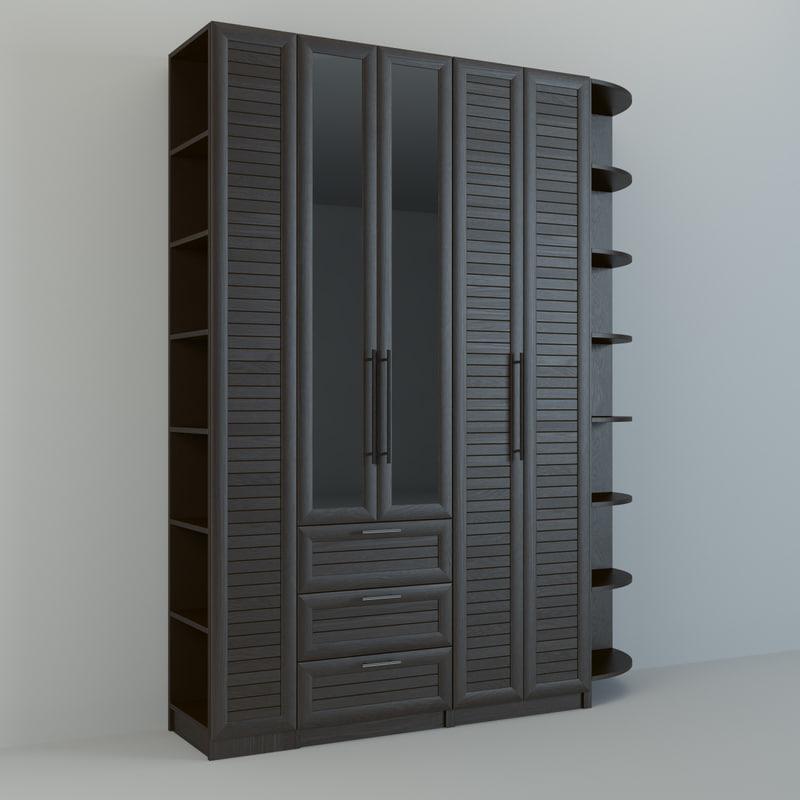 3d realistic wall unit