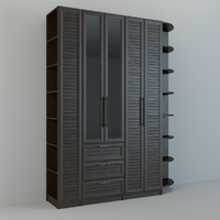 3d realistic wall unit
