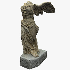 3d winged victory samothrace statue model