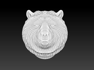 3d bear head bangle