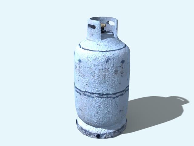 bottle gas 3d max