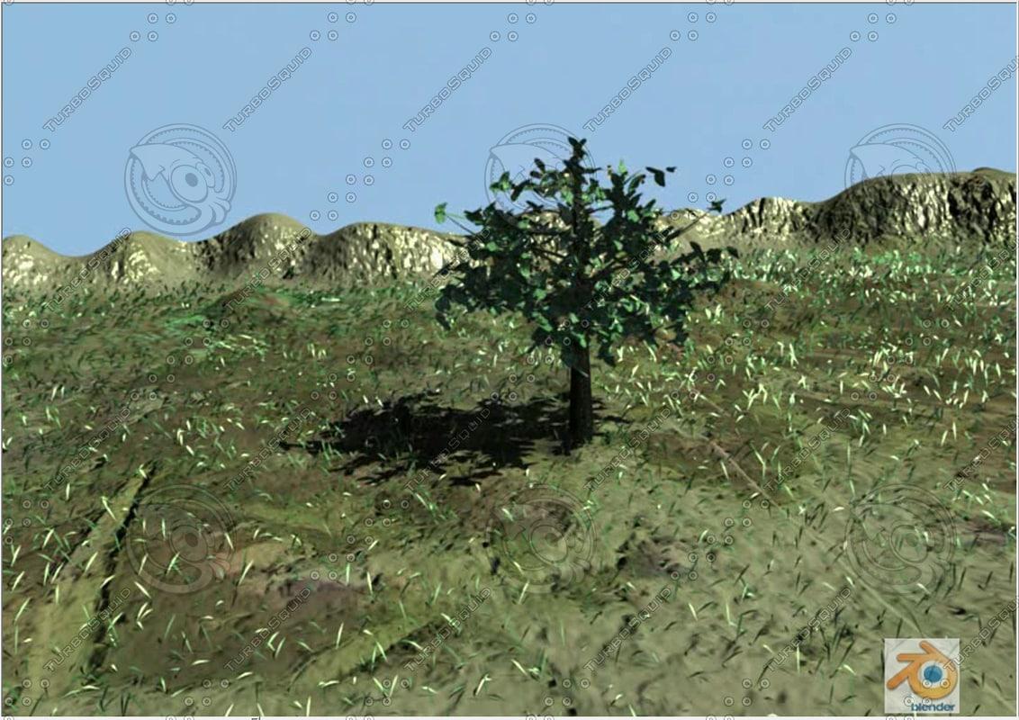 free blend mode tree landscape particles blender2
