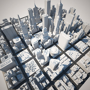 3d 3ds big city white