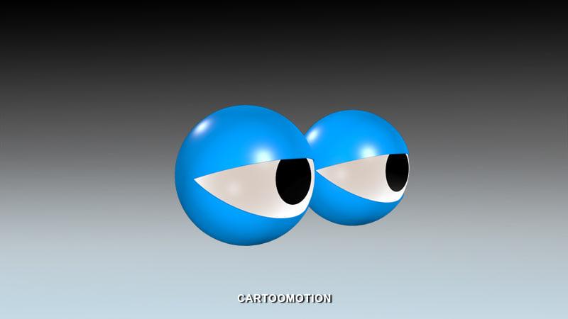 3d model comic eyes