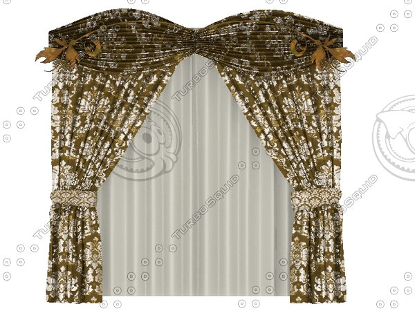 free best curtain 3d model
