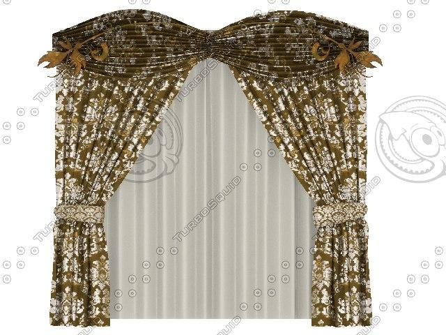 free best curtain 3d model