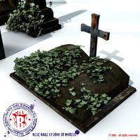 gravestone stone 3d c4d