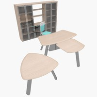 3ds max office furniture