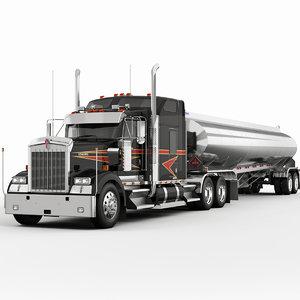 w900 trailer 3d model