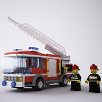 lego truck 3d max