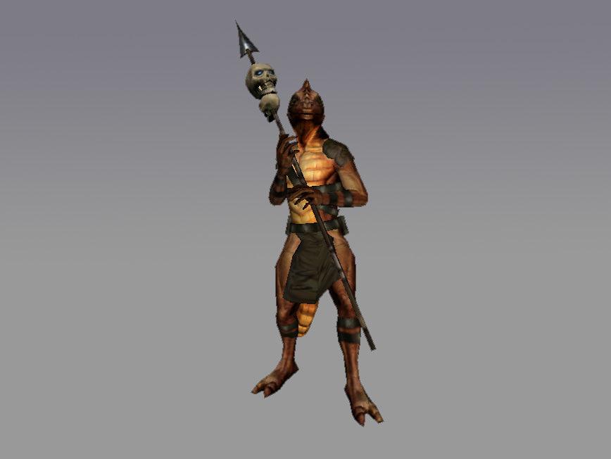 3s lizarman rpg character