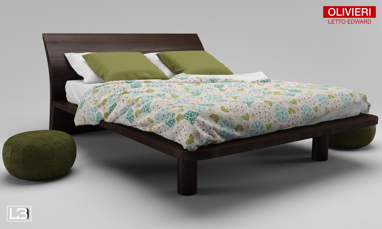 3d model olivieri edward bed