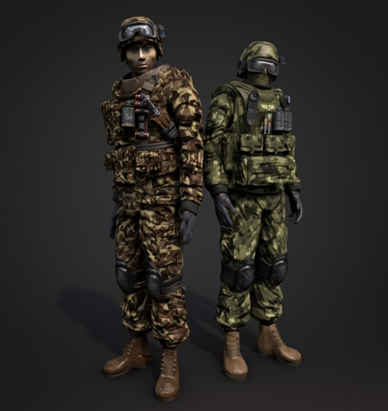 soldier man military 3d model