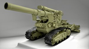 3d model russian howitzer m1931
