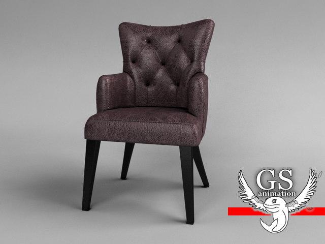 3dsmax realistic chair