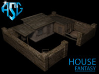 free fantasy house 3d model
