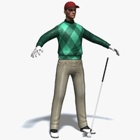 realistic golfer golf club max