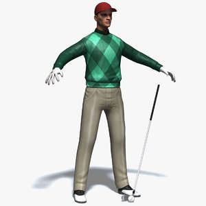 realistic golfer golf club max