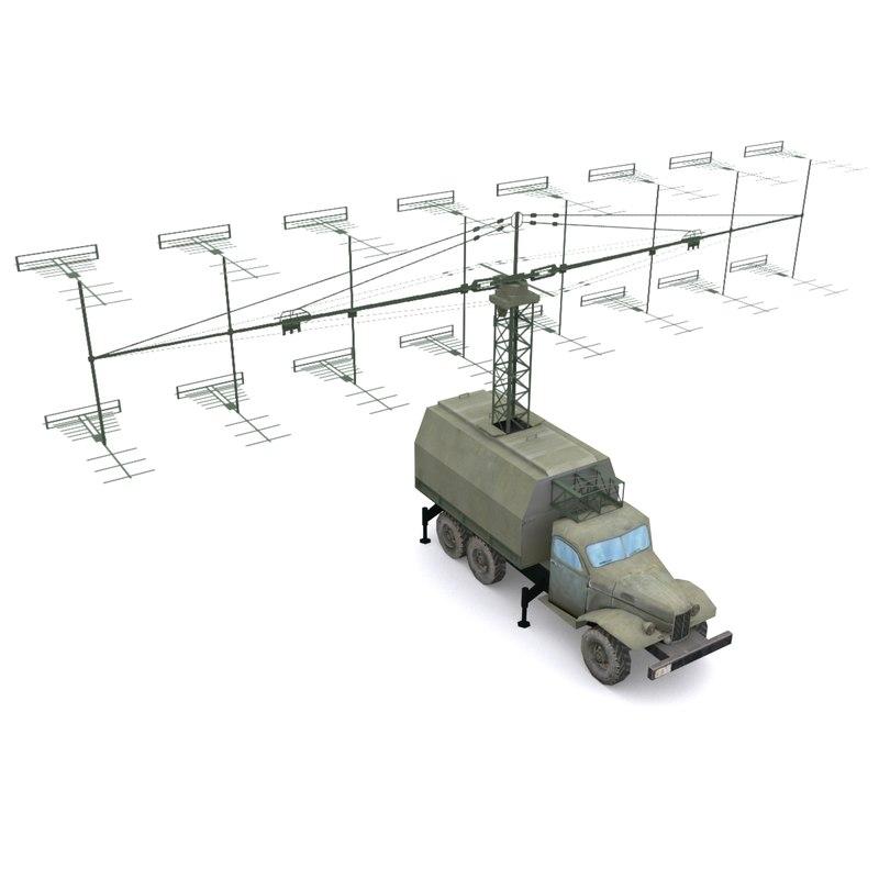 p-18 d radar 3d model