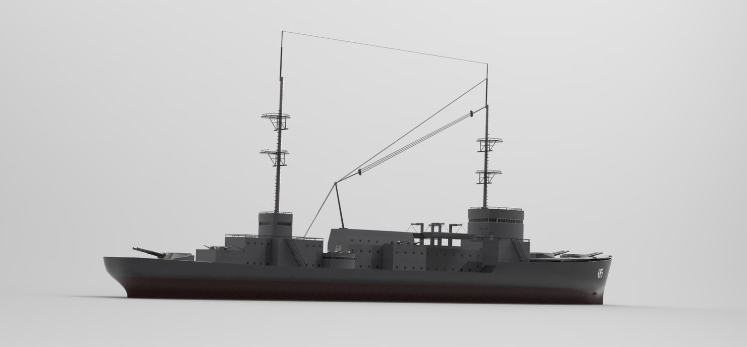 3ds max kruvazor war ship