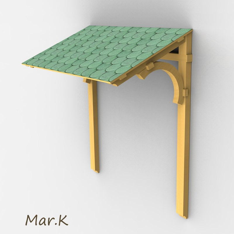 3d model of roof door