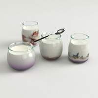 luxury bio yogurt 3d model