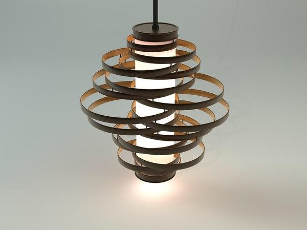 vertigo pendant lamp 3d c4d