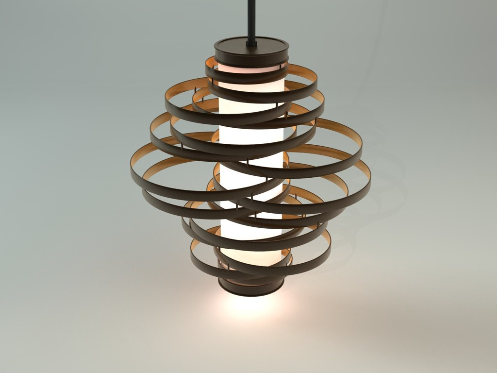 3ds Max Vertigo Pendant Lamp
