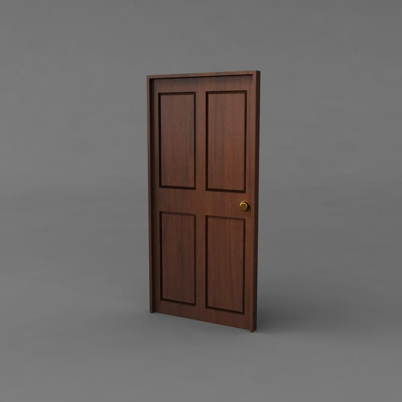 maya simple classic door