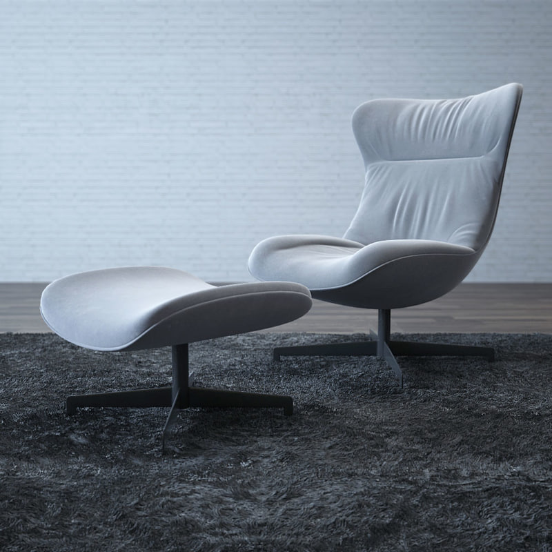 amy chair ligne roset 3d max