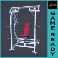 shoulder press 3d max