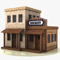 Cartoon Western Building 1 (Sheriff)