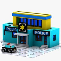 Cartoon Police Station