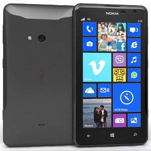 3dsmax nokia lumia 625 black