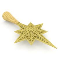 3d model christmas star