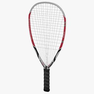 3d racquetball racquet model